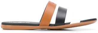 Hogan Strappy Logo Sandals