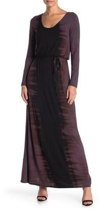 Go Couture Scoop Neck Tie Waist Maxi Dress