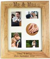 Very Personalised Mr & Mrs Wooden Photo Frame