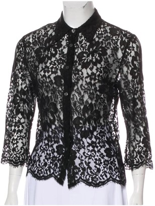 Burberry Black Lace Tops