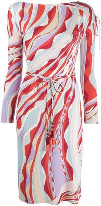 Emilio Pucci Tie Waist Wrap Dress