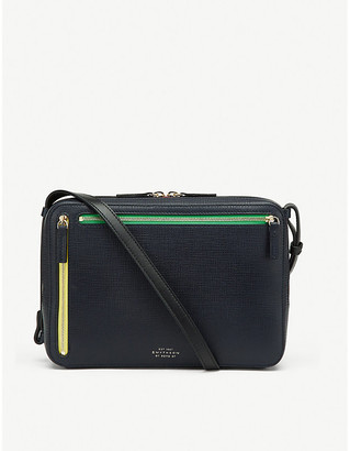 Smythson Zipped cross-grain leather cross-body bag