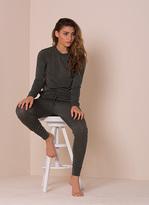 Missy Empire Casa Khaki Fine Knit Loungewear Tracksuit