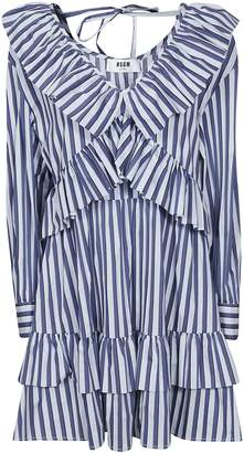 MSGM V-neck Striped Dress