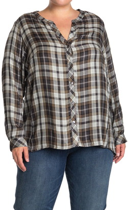 Workshop Plaid Long Sleeve Boyfriend Shirt