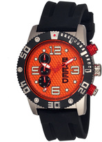 Breed Silver & Orange Grand Prix Chronograph Watch