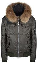 Philipp Plein Brahms Fox Fur Hooded Bomber Jacket