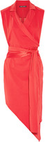 Baja East Asymmetric wrap-effect stretch-crepe dress