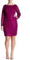 Marina Sequin Lace Dress (Plus Size)