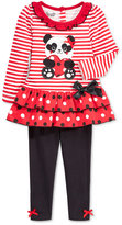 Nannette Baby Girls' 2-Pc. Panda Tunic & Leggings Set