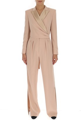 Max Mara Tie-Waist Tailored Jumpsuit