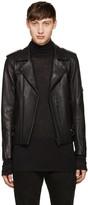 Blackmeans Black Leather Biker Jacket