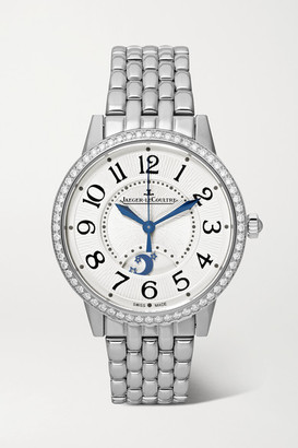 Jaeger-LeCoultre Rendez-vous Night & Day Automatic 34mm Medium Stainless Steel And Diamond Watch - Silver
