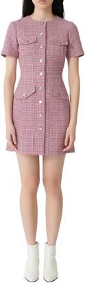 Maje Rida Tweed Minidress