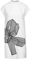 Stella McCartney Deborah embroidered tulle-paneled crepe mini dress