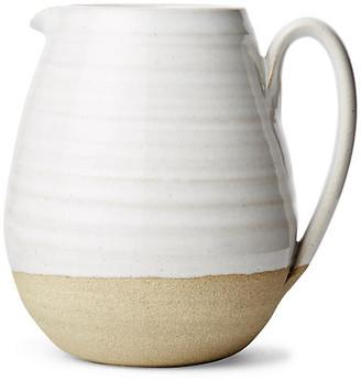 "Farmer's Pitcher - Natural/White - Farmhouse Pottery - 4"""