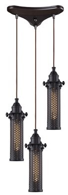 Rawlings Sports Accessories 17 Stories 3-Light Cluster Cylinder Pendant 17 Stories