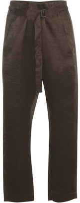 Ann Demeulemeester Belted-Waist Cropped Trousers
