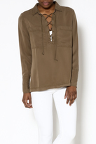 Velvet Heart Olive Long Sleeve Top