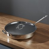 Crate & Barrel All-Clad ® Stainless 6 qt. Sauté Pan with Lid