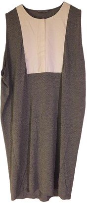 Cos Grey Cotton Dress for Women