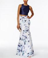 Xscape Evenings 2-Pc. Floral-Print Mermaid Gown