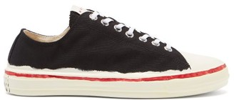 Marni Painted-sole Canvas Trainers - Black White