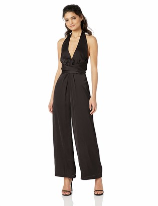 ASTR the Label Women's Boogie Nights Sleeveless Halter Cropped Jumpsuit