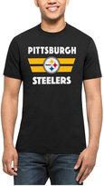 '47 Men's Pittsburgh Steelers Two Bar Splitter T-Shirt