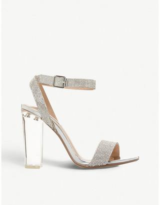 Steve Madden Diamante perspex sandals