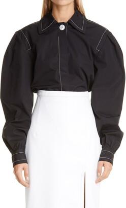 Meryll Rogge Big Collar Cotton Shirt