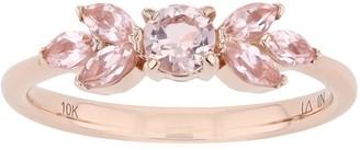 Lauren Conrad 10k Gold Pink Gemstone Floral Ring