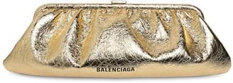Balenciaga Xl Cloud Metallic Leather Clutch