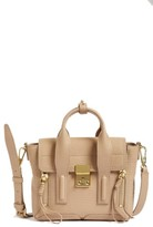 3.1 Phillip Lim Mini Pashli Leather Satchel - Beige