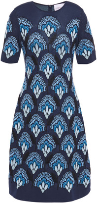 Carolina Herrera Jacquard-knit Dress