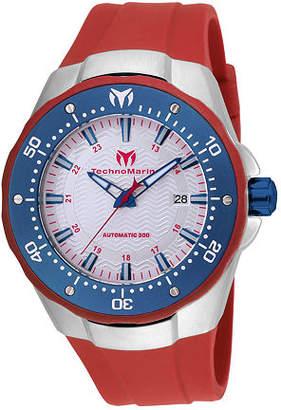 Technomarine Techno Marine Mens Blue Stainless Steel Strap Watch-Tm-215090 Family