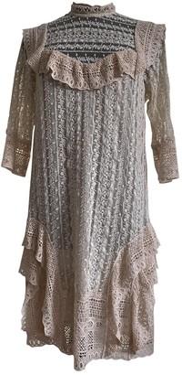 Twin-Set Twin Set Ecru Lace Dress for Women