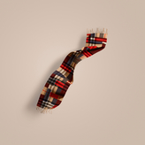 Burberry The Classic Cashmere Scarf in Colour Block Check