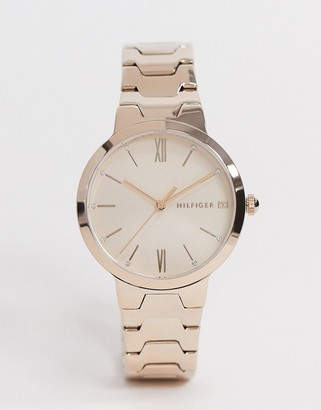 Tommy Hilfiger avery watch in rose gold