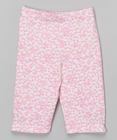 Flap Happy Baby Blooms Print Capri Leggings - Toddler & Girls