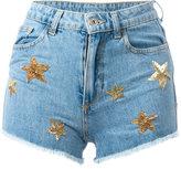 Chiara Ferragni Flirting shorts - women - Cotton/PVC/glass - S