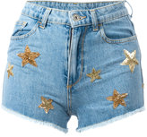 Chiara Ferragni Flirting shorts - women - Cotton/PVC/glass - XS