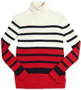 Junior Gaultier Ribbed Striped Cotton Sweater