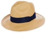 SENSI STUDIO Panama Straw Hat With Italian Bow