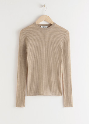 And other stories Fitted Wool Knitted Top