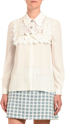 Miu Miu Camcie Sable Pizzo Blouse