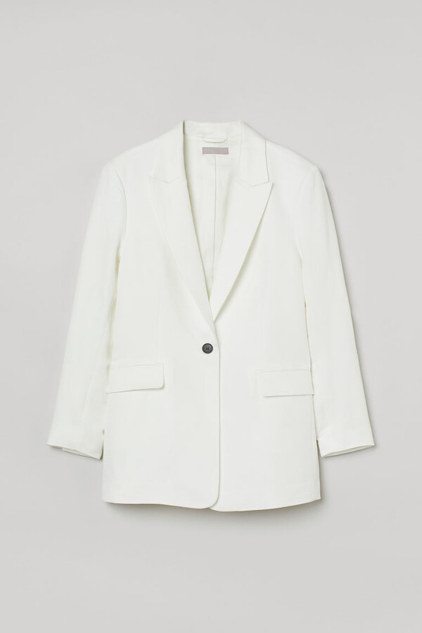 Thumbnail for your product : H&M Single-breasted jacket - White