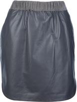 Balenciaga lambskin skirt