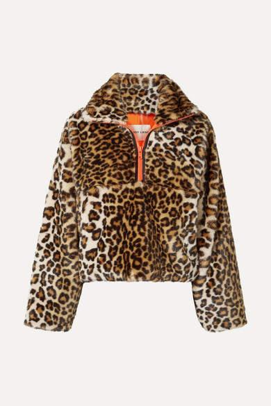 Sandy Liang Garbanzo Leopard-print Faux Fur Jacket - Leopard print