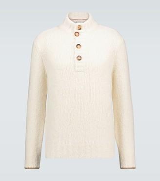 Brunello Cucinelli Buttoned turtleneck sweater
